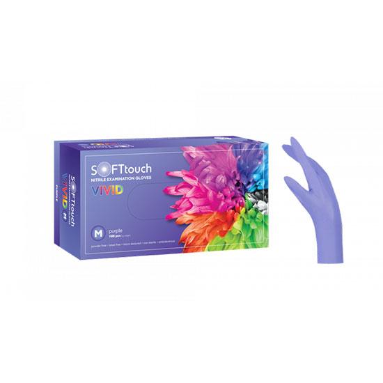 Professional medical nitrile gloves  Vivid purple Without Powder  Medium 100 pcs - 1082044